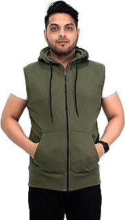 NOROZE Mens Sleeveless Sweatshirt Hoodies Top