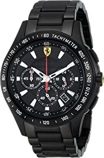 Ferrari Men's 0830046 Scuderia Analog Display Quartz Black Watch