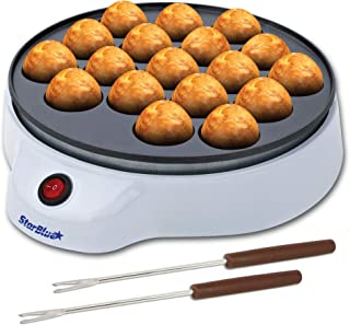StarBlue Machine for Takoyaki from with Free Takoyaki Spikes: Simple to Make Japanese Octopus Balls AC 220-240V 50 / 60Hz 650W, Enchufe del Reino Unido, Adaptador para Europa Incluido