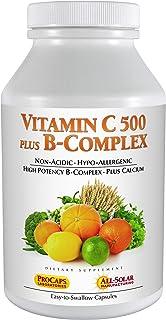 Andrew Lessman Vitamin C 500 Plus B-Complex 180 Capsules – Non-Acidic Vitamin C Plus Citrus Bioflavonoids for Immune Syste...