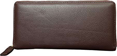 Canyon Outback Leather Marydale Canyon Zip Wallet-Brown, Brown