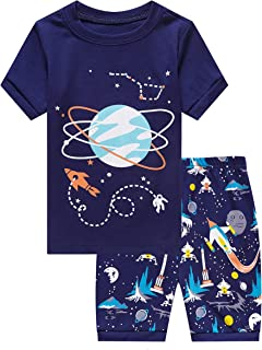 Family Feeling Shark Little Boys Shorts Set Pajamas 100% Cotton Clothes Toddler Kid