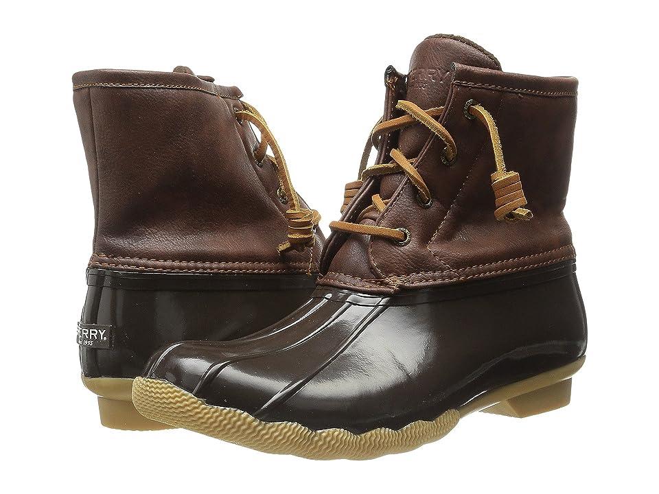 Sperry Kids Saltwater Boot (Little Kid/Big Kid) (Brown/Brown) Kids Shoes