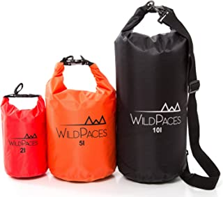 WildPaces Super Value Set of 3 Waterproof Dry Bags 10L 5L 2L for Swimming Running Cycling