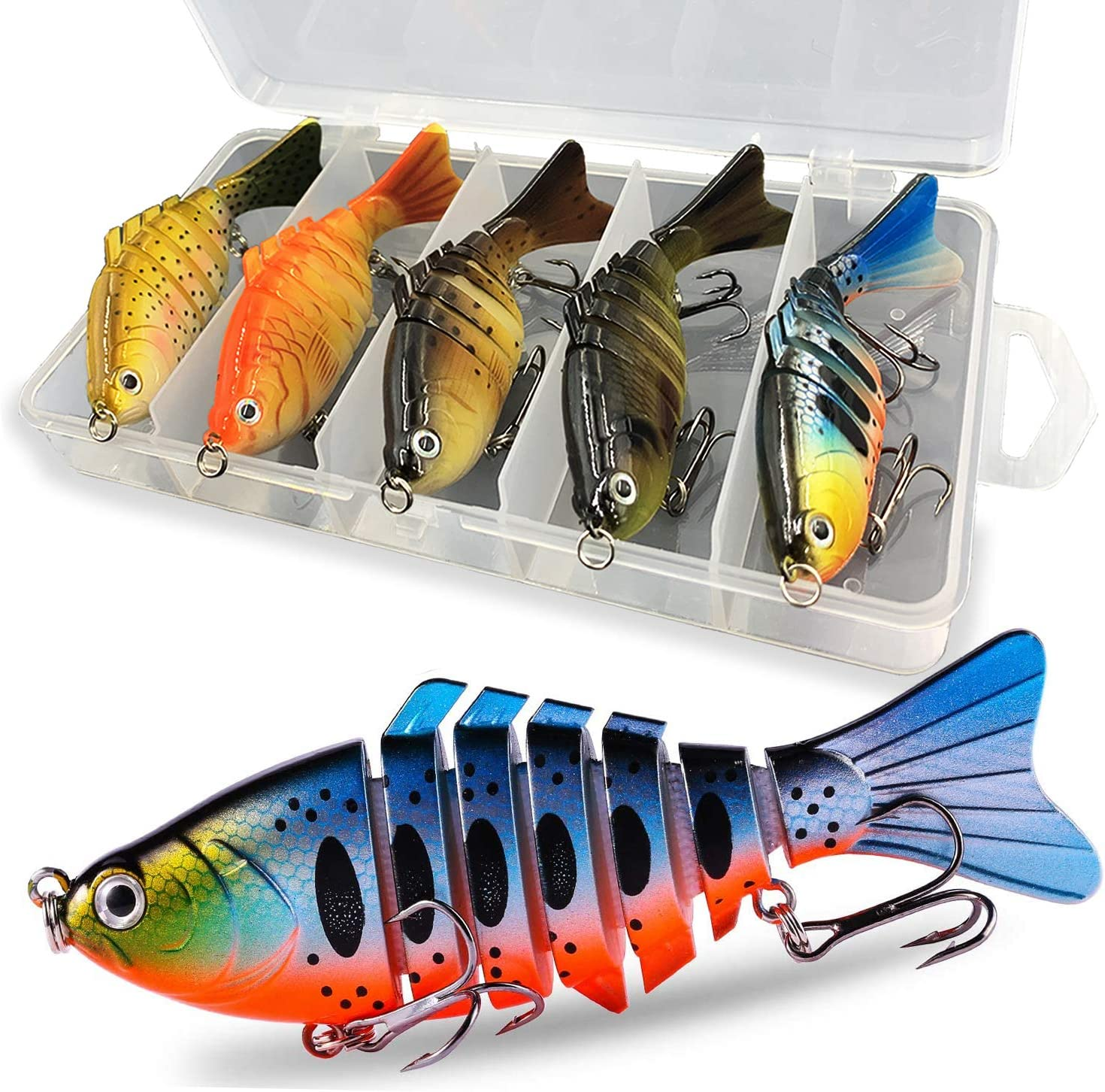 Liraip Fishing Lures for Bass Multi Swi Jointed Over item handling ☆ Segmented Trout Quantity limited