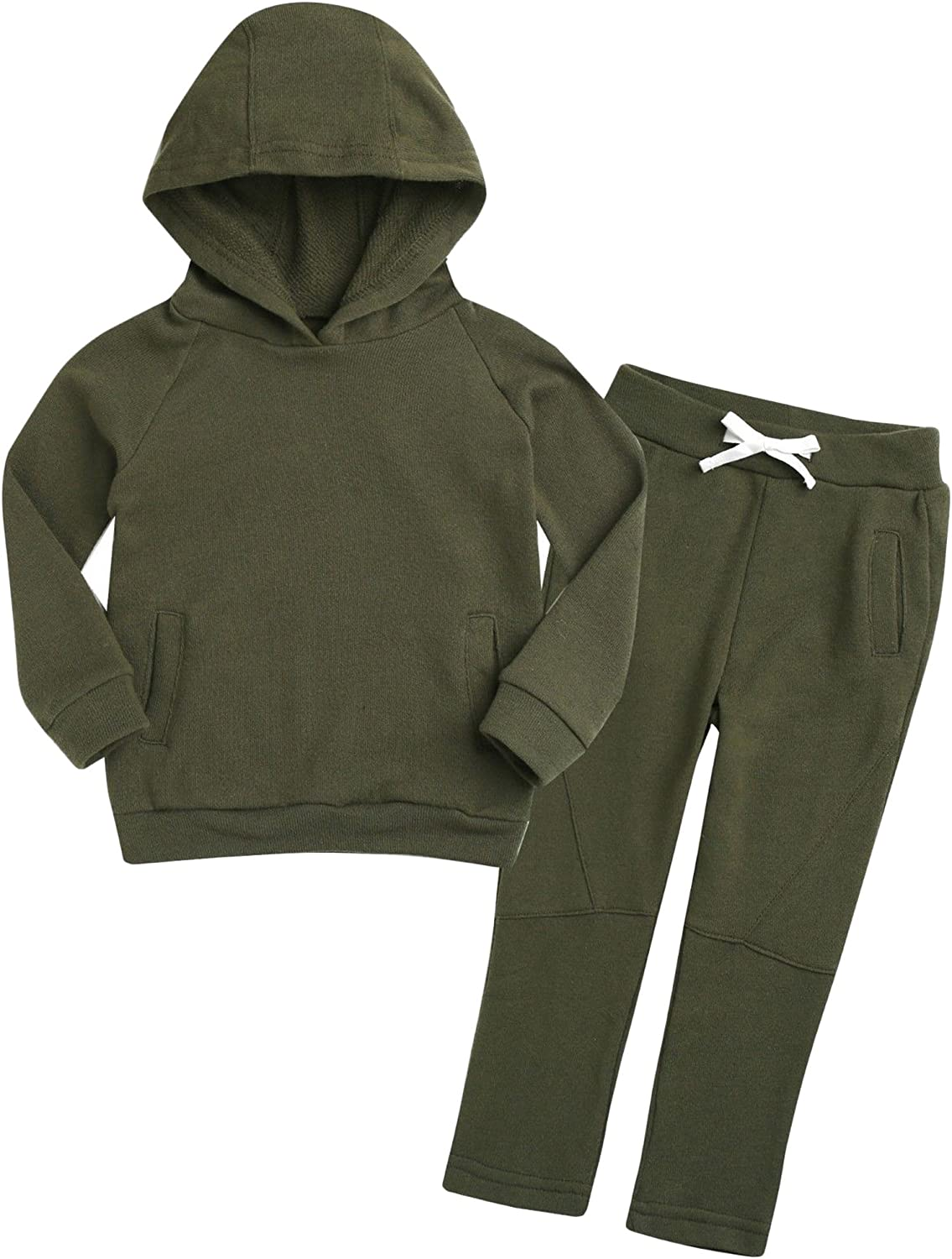 OLLIE ARNES Toddler Unisex Pullover Hoodie and Sweatpant Sets(12M to 7T)