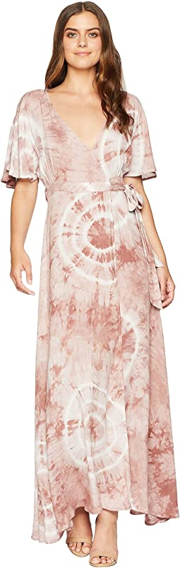 Kiana Tie-Dye Wrap Maxi Dress