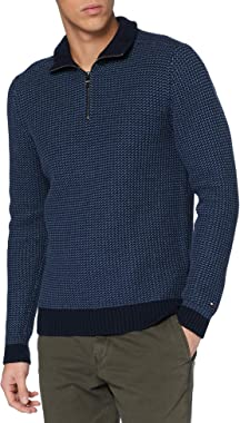 Tommy Hilfiger Bold Texture Zip Mock Sweater Homme