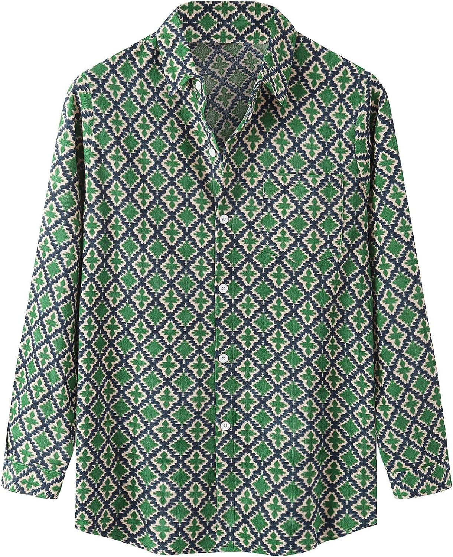 Men's Casual Dress Shirt Button Down Shirts Long-Sleeve Denim Work Shirt Prom Wedding Party Button Down Shirts