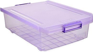 Tatay Underbed Storage Box, 32 L, Polypropylene, Purple, One Size