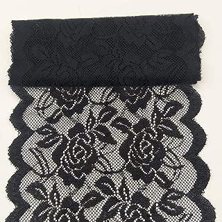 wide black lace ribbon
