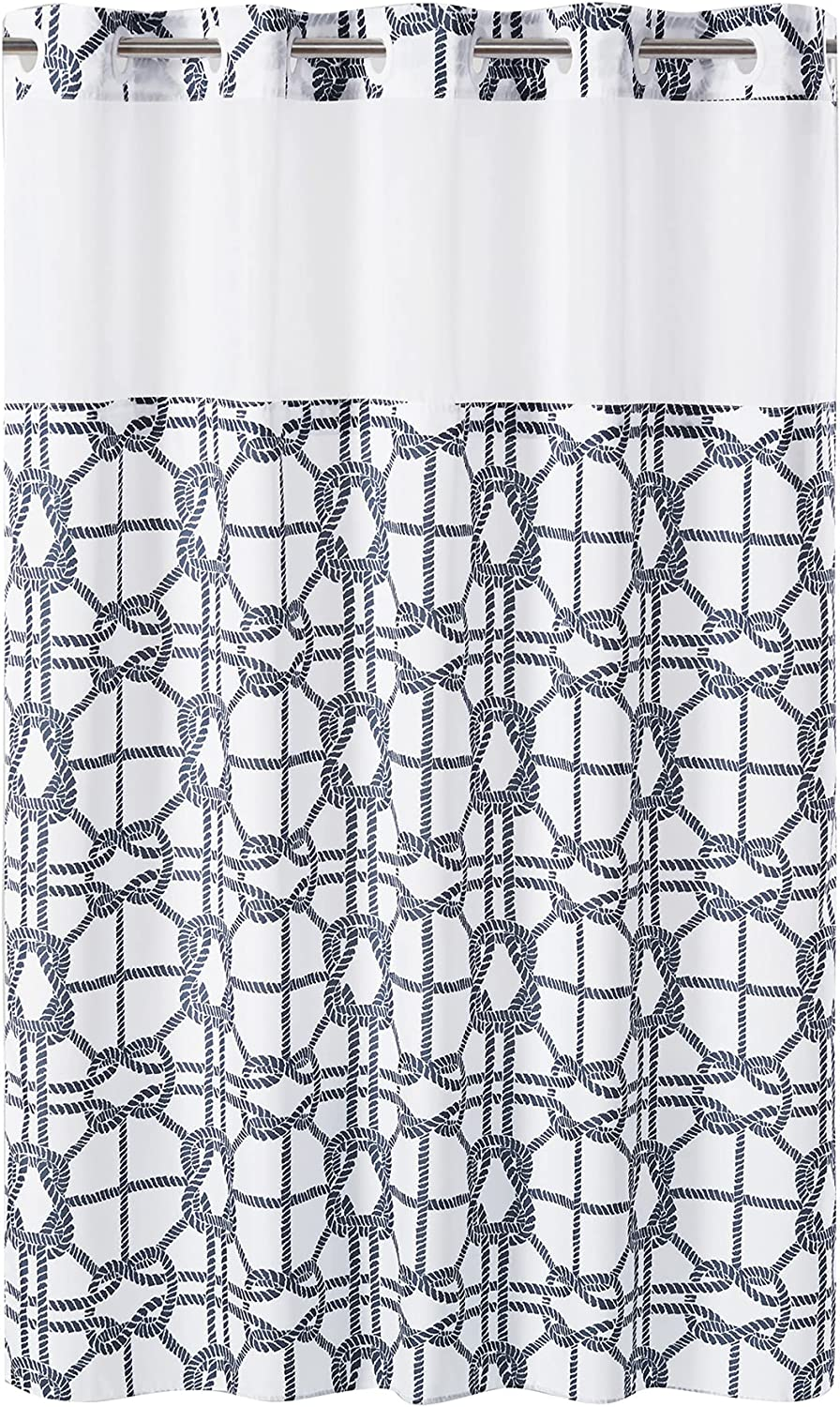 Hookless Nautical Lattice Shower Curtain with Ranking TOP16 X 7 71 Liner Superior Peva