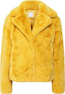 Rino and Pelle Women's Juna Faux Fur Jacket Yellow