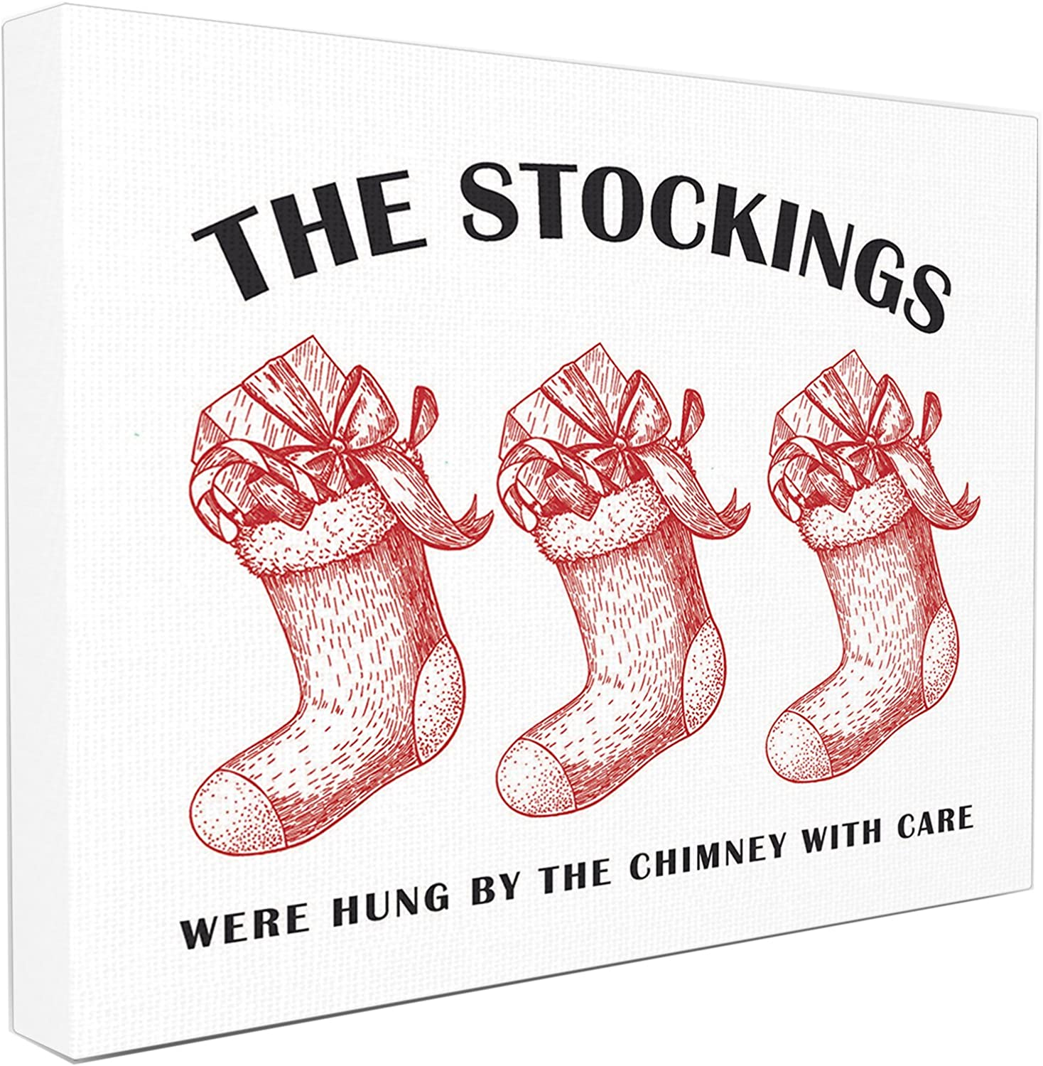 Stupell Industries Christmas The Stockings Vintage Icons Stretched Canvas Wall Art, Proudly Made in USA