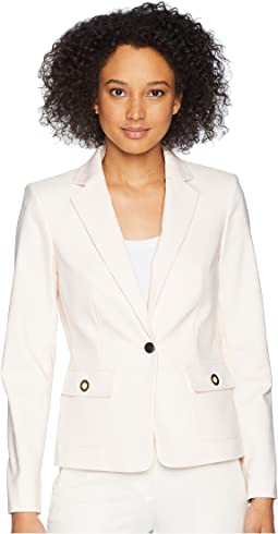 Cotton One-Button Jacket