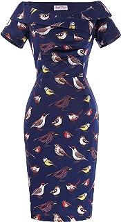 Best navy bird print dress Reviews