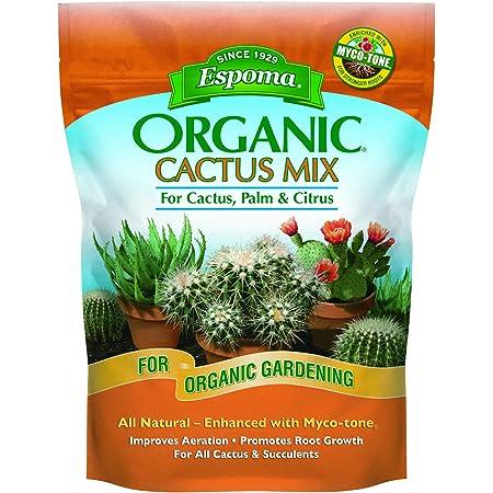 Espoma Cactus Potting Mix, Natural & Organic Soil for Cactus, Succulent, Palm, and Citrus, 8 qt, Pack of 1