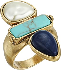 Lucky Brand Turquoise Pearl Ring