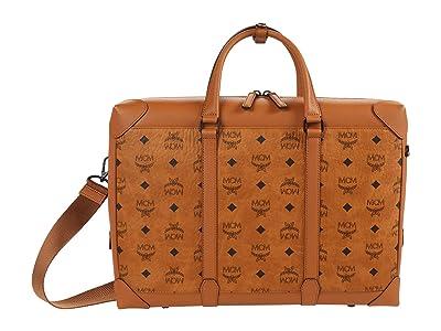 MCM Soft Berlin Visetos Tote Large (Cognac) Handbags