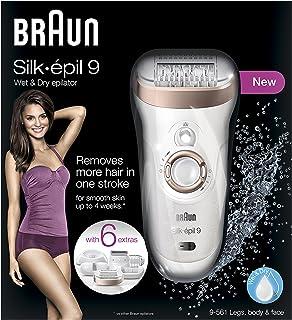 Braun Silk-épil 9 9-561 Wet & Dry Cordless Epilator/Epilation + 6 Extras