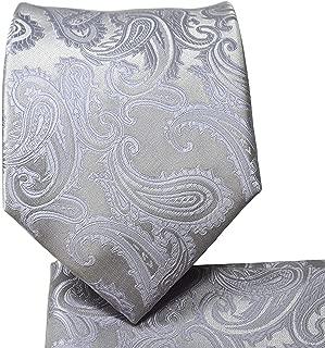 3.5 Men's Paisley Design Necktie Handkerchief Set For Suit or Tuxedo Wedding Tie Prom Necktie Formal Necktie