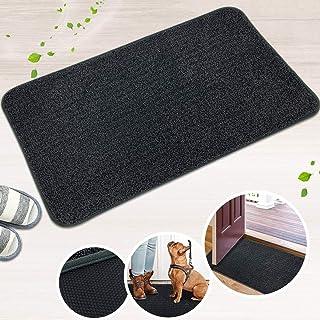 LINLA Indoor Doormat Super Absorbs Mud Mat، Mash Rubber لاستیکی بدون لغزش و تشک تمیز برای درب جلو داخل خاک Trapper Mats کفش های تراشنده ، 18x30 اینچ خاکستری تیره