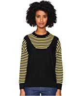 Sonia Rykiel - Finewool Stripes Long Sleeve Sweater