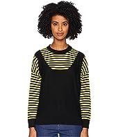 Sonia Rykiel - Finewool Stripes Long Sleeve Sweater