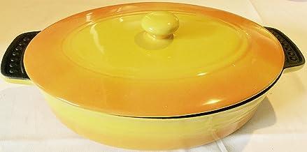 Parini Oval Ceramic Bakeware-Yellow & Orange