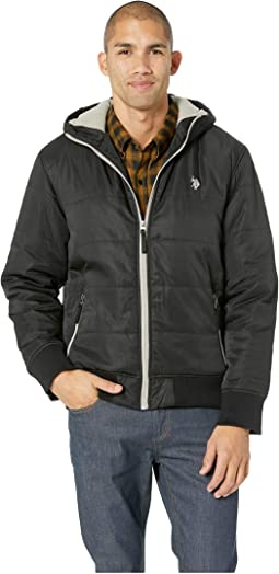 Rib Cuff Hooded Jacket