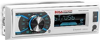 BOSS Audio MR632UAB Single Din, Bluetooth, MP3 / WMA/USB/SD AM/FM Weather-Proof Marine Stereo, (No CD/DVD), Detachable Fro...