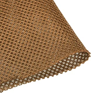 uxcell Sand Yellow Speaker Mesh Grill Cloth Stereo Box Fabric Dustproof Audio Cloth 100cm x 160cm 40 inches x 63 inches