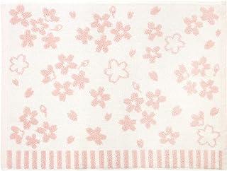 林(Hayashi) 浴室足ふきマット ホワイト&ピンク 約45×60cm たおやか さくら MJ441300