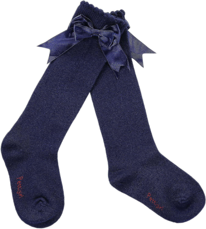 Pettigirl Girls Stretch Handmade Knee High Bow Sock Boutique
