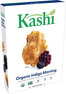 Kashi, Breakfast Cereal, Organic Indigo Morning, Gluten Free, Non-GMO Project Verified, 10.3 Ounce (Pack of 1)