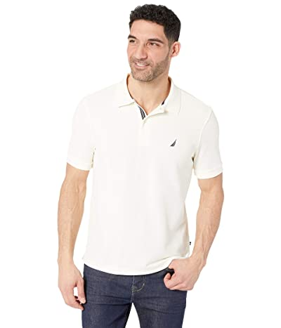 Nautica S/S Solid Polo With Tape (Sailcream) Men