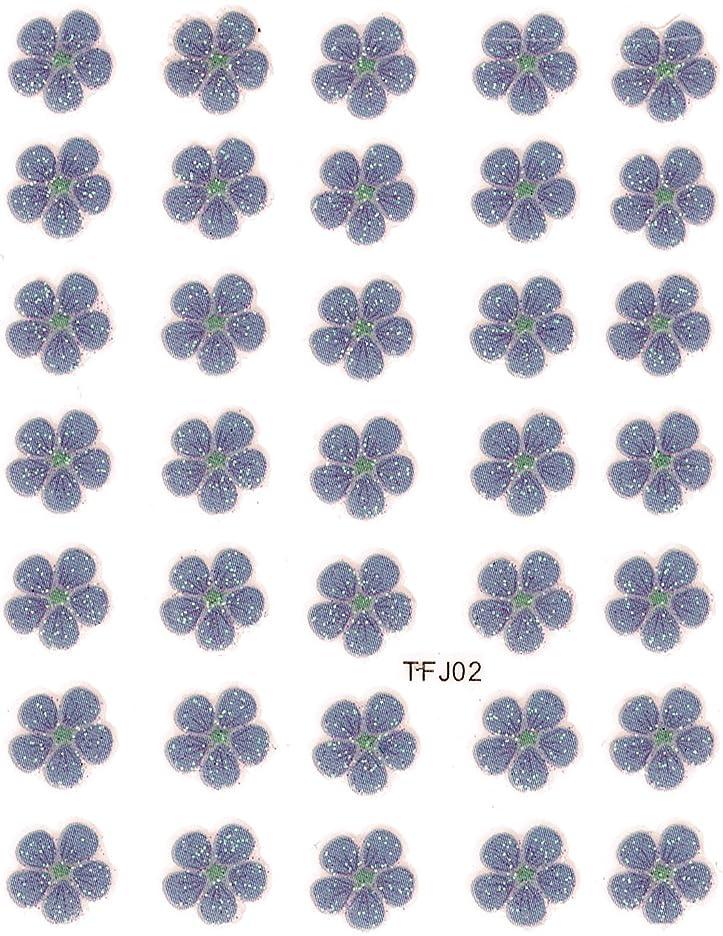 コンサート農村家主押し花 ネイルシール 花柄 選べる48種パッケージ入り (F02)