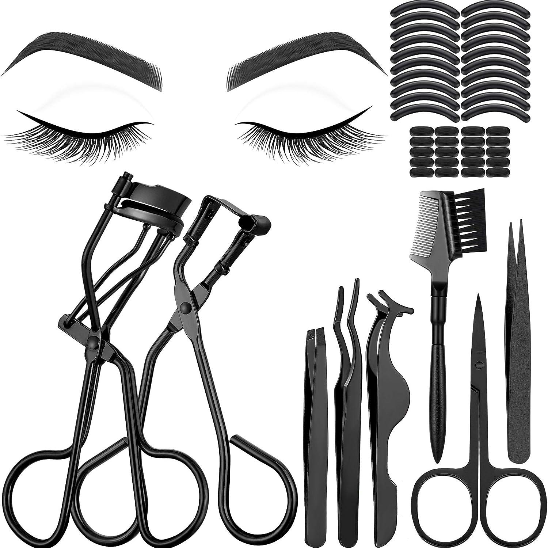 service 48 Pieces Elegant Eyelash Curler Makeup Mini Tools include Set