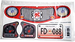 The Toy Restore New Replacement Decals Fits Little Tikes Cozy Coupe II Ride on Fire Truck NL