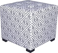 """product image for MJL Furniture Designs Upholstered Cubed/Square Shakes Series Ottoman, 17"""" x 19"""" x 19"""", Storm Grey"""