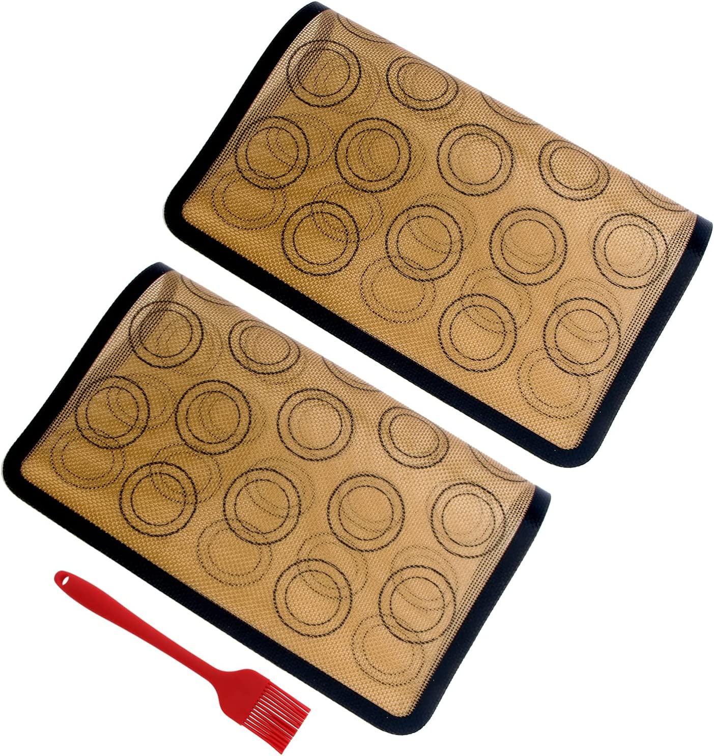 Yardwe 2pcs Silicone Baking Mats Trust 25% OFF with Ma Pastry Stick Non- Brush
