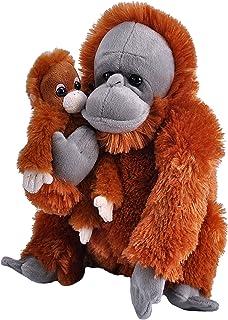 Wild Republic 23476 Mom and Baby Orangutan Plush Stuffed Animal, Toy, Gifts for Kids