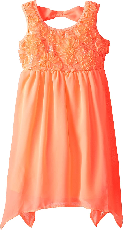 Pogo Club Big Girls' Holly Floral Sequin Dress