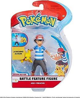 Pokèmon 98121 4.5 Pulgadas Ash & Pikachu Figuras, sin