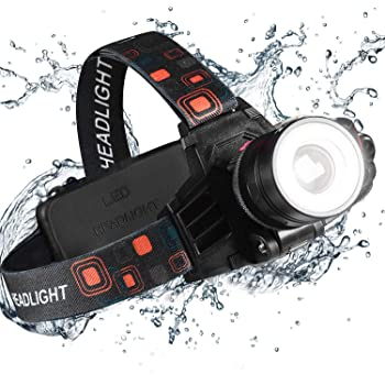 Super Bright LED Headlamp LUXJUMPER XHP70.2 10000 Lumen Head Torch Rechargeable