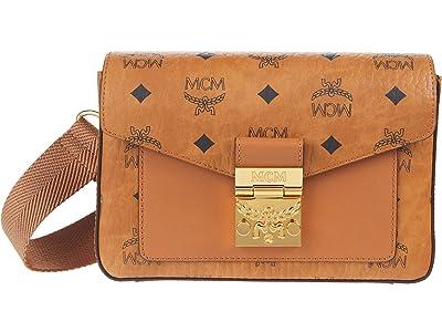 MCM Millie Visetos Crossbody Small (Cognac) Handbags