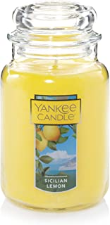 Yankee Candle Sicillian Lemon Scented Premium Paraffin Grade Candle Wax with up to 150 Hour Burn Time, Large Jar