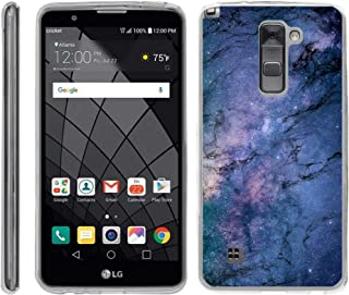 TurtleArmor   Compatible with LG Stylus 2 Case   LG G Stylo 2 Case [Flexible Armor] Flexible Slim Fitted TPU Bumper Case Cover - Marble Galaxy