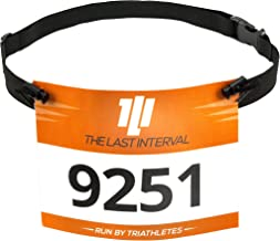 TLI Race Belt for Running, Cycling, Triathlon - Lightweight - Race Day Ready Triathlon Race Belt Designed for Speed, Ease of Use, and Convenience