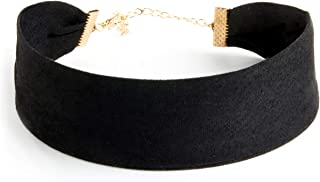 CHOKER LAND Thick Black Soft Wide Velvet Choker Necklace Band for Women and Girls | Adjustable, Comfort fit, Hypoallergenic, for All Ages, Classic Style